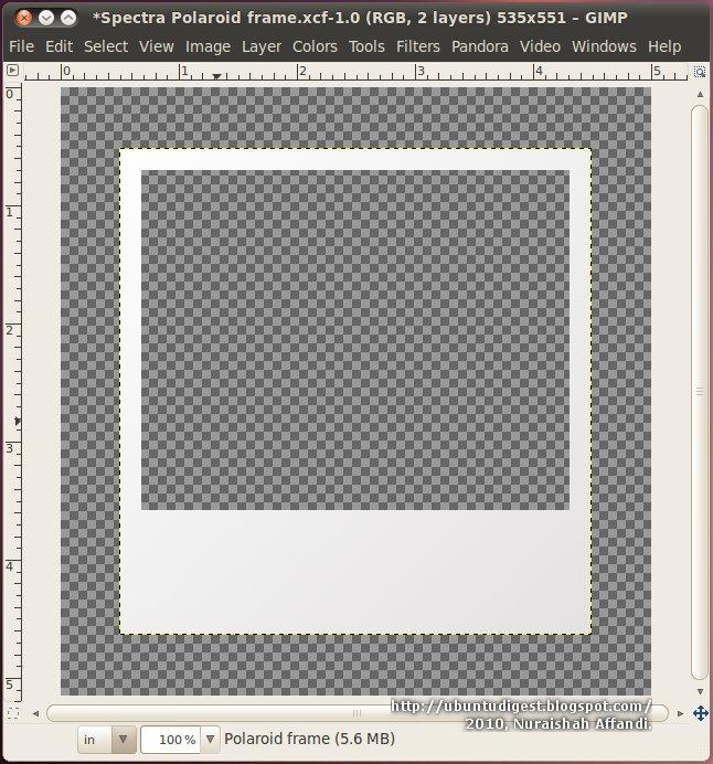 Populaire Ubuntu Digest: Polaroid frame effect using GIMP [Update] TV39