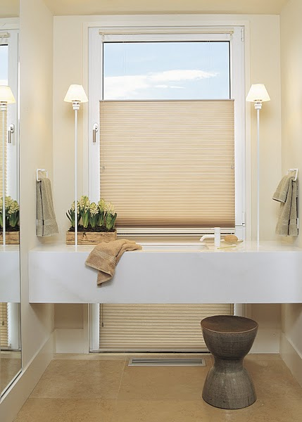 Naked windows window treatments that save you money eheart interior solutions for Window coverings for bathroom windows