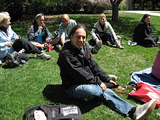 Alito and participants on the grass