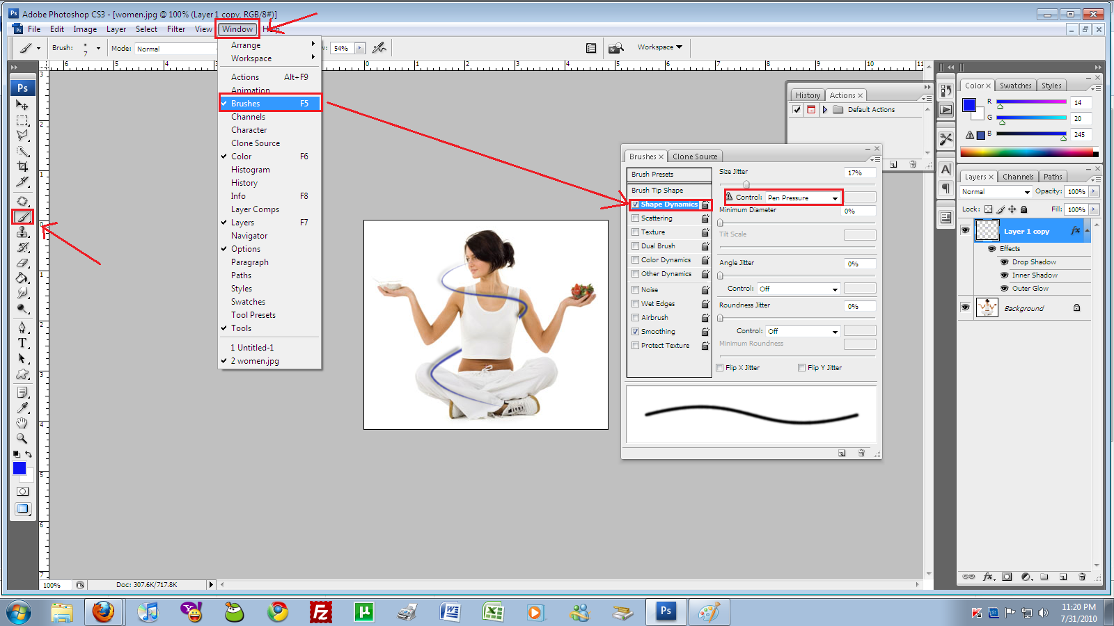 photoshop how to make line tool join