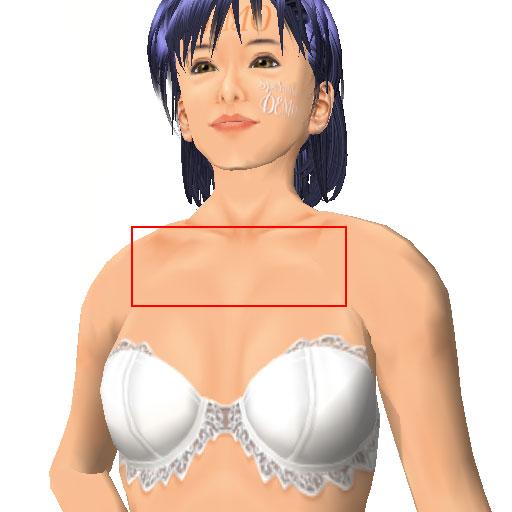 鎖骨から乳房の間隔