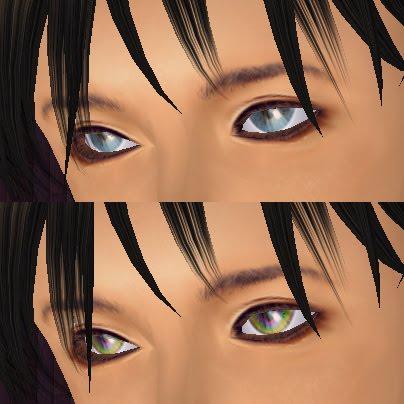 上目遣いでの新作瞳の効果