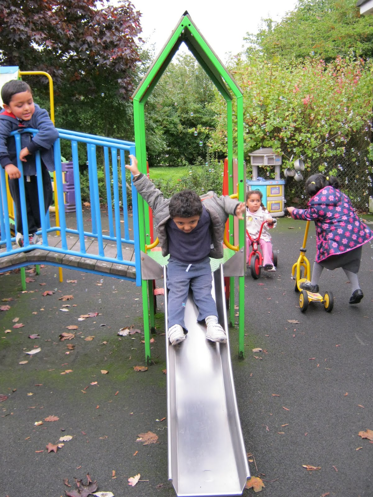 Manford Primary: Nursery: Playing outside