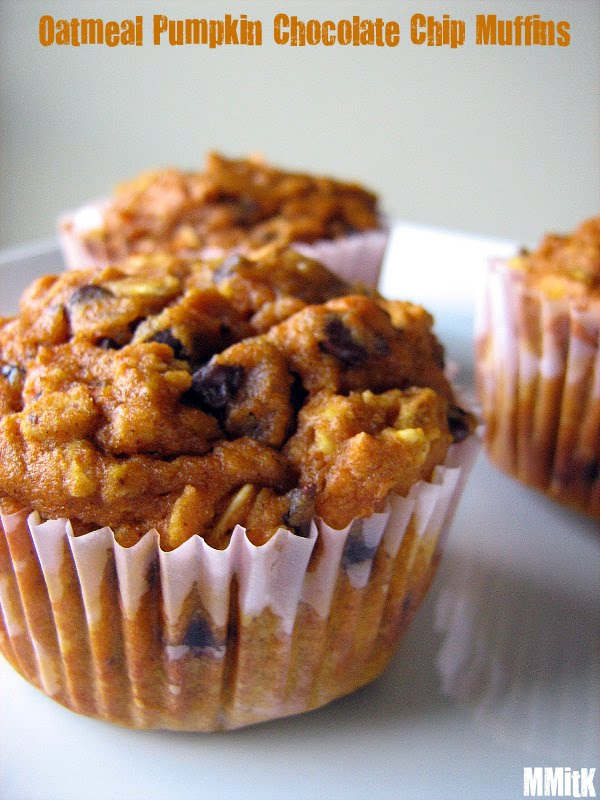 Meet Me in the Kitchen: Oatmeal Pumpkin Chocolate Chip Muffins