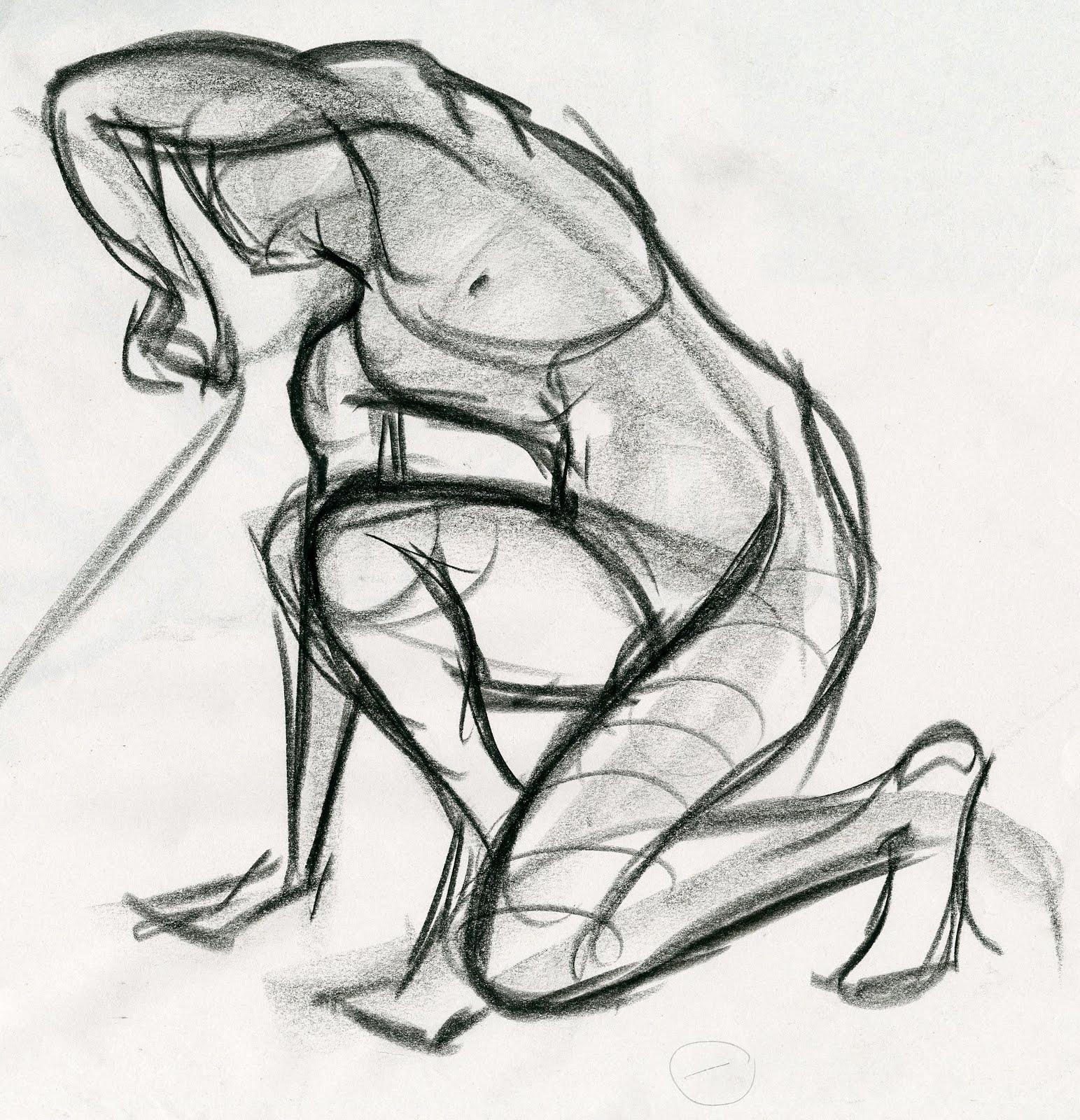 Scribble Gesture Drawing : Scribble scraps life drawing gestures