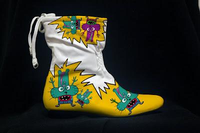 custom printed shoes