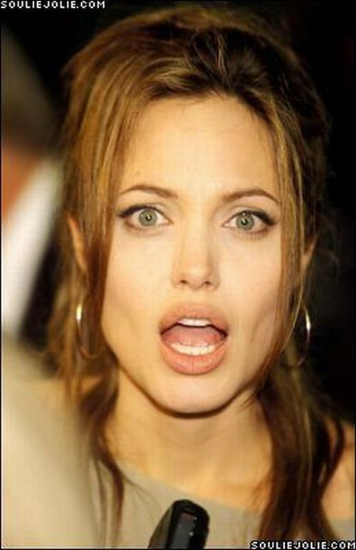 angelina jolie naked with cum on face