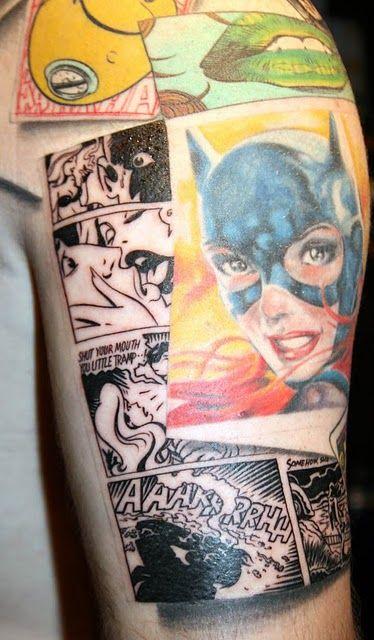 Superhero tattoos 83 pics curious funny photos pictures for Superhero tattoo sleeve