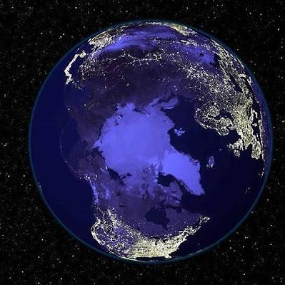 foto satelit malam hari
