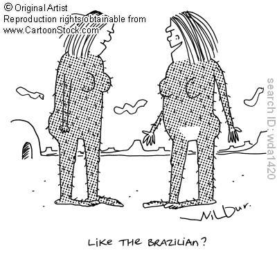 Ugghh! I was used to getting bikini waxes but ...