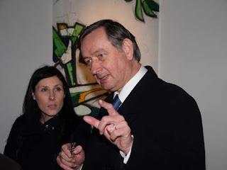 Predsjednik Slovenije Danilo Türk posjetio izlozbu Marka Zubaka u galeriji Tir, Nova Gorica.