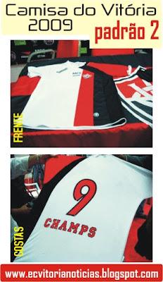 Nova camisa do Vitória para 2009 - padrão 2