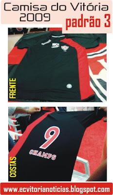 Nova camisa do Vitória para 2009 - padrão 3