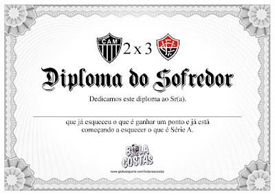 Diploma de Sofredor - Atlético-MG