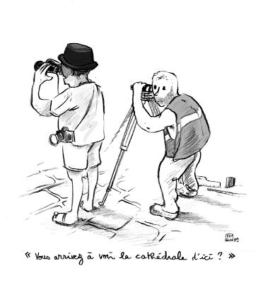 dessin presse touriste
