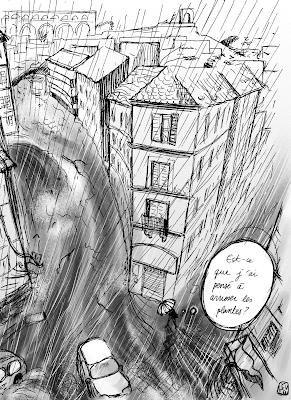 dessin presse orage inondation