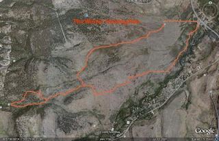 Boulder Colorado Winter Trail Running Route