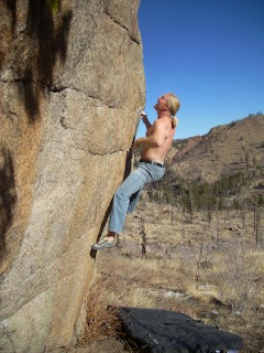 Bouldering on Granite in Colorado's Front Range