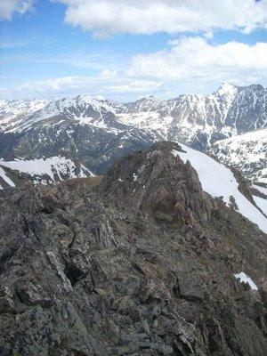 trail running up Mount Neva