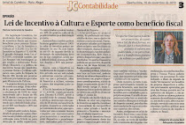 Lei de Incentivo à Cultura e Esporte como benefício fiscal.