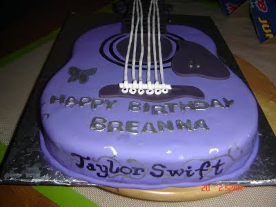 Blue Fairy Cakes Taylor Swift Guitar Cake