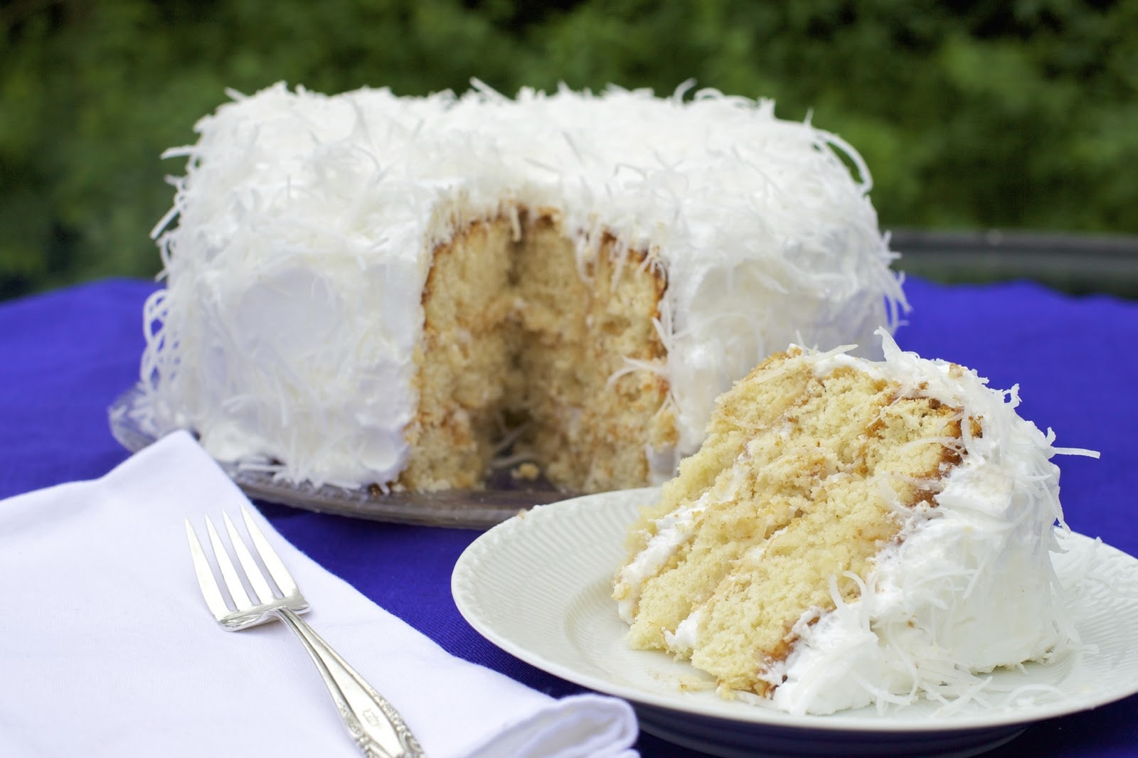 Sprigs of Rosemary: Ina's Coconut Cake Topped the Birthday Surprise!