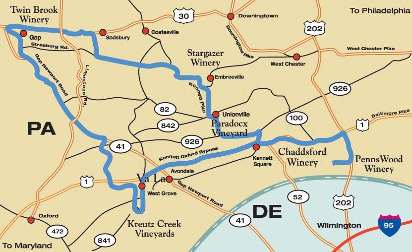Brandywine Valley Wineries Near Hamanassett Offer Exciting