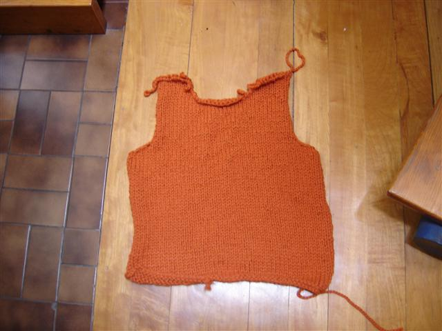 Wires & Yarns: WiP ::: Pumpkin Vest