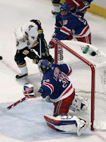 Buffalo Sabres Daniel Briere shoots on New York Rangers goalie Henrik Lundqvist Game 4 MSG NYC 5-1-2007 REUTERS- Brendan McDermid