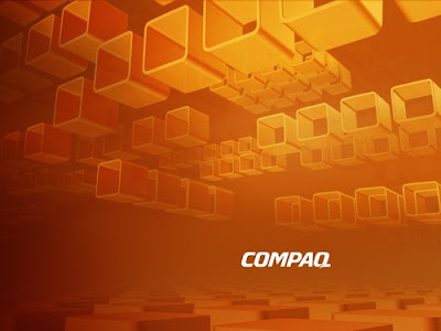 compaq wallpaper. Compaq Orange Wallpaper