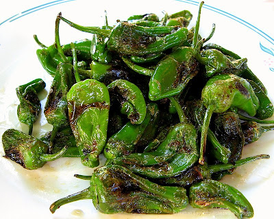 Pimientos de Padron tapas plate