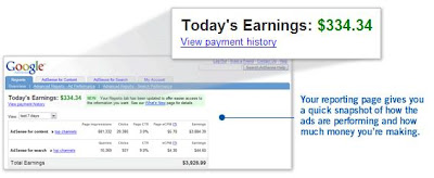 adsense interface picture