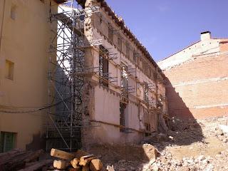 Destrucción del palacio de la calle San Torcuato de Calatayud