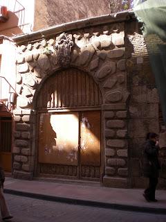 Portada de sillares desaparecida en Calatayud