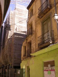 Detalle calle Gracián de Calatayud. Destrucción de patrimonio