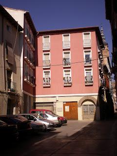 Detalle de fachada en calle Gracián de Calatayud