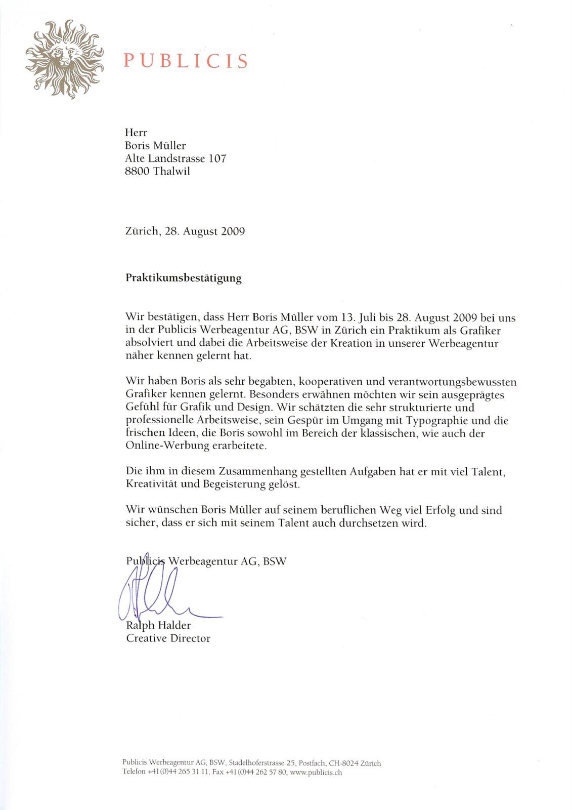 work: Publicis Letter