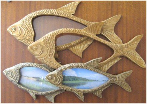 Рыба из дерева фото