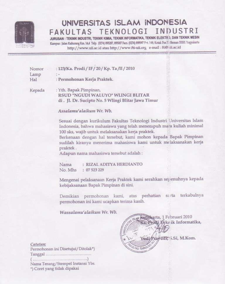 Contoh Surat Balasan Dari Instansi Download