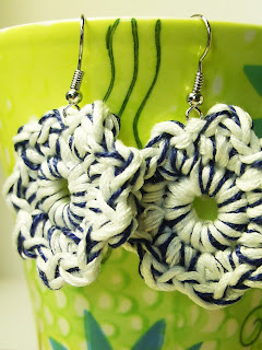 unique handmade crochet earrings jewelry jewellery gift present fashion kookoo