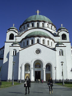 Beograd journey Serbia Travel travelling trip orthodox church dome white blue cathedral
