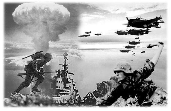 imagen que nos resume las armas ocupadas en la segunda guerra mundial