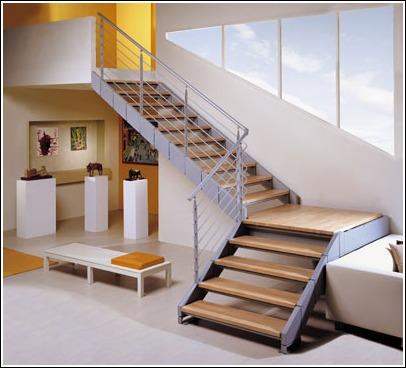 La escalera definici n partes y tipos de arkitectura for Escaleras exteriores para casas de dos pisos