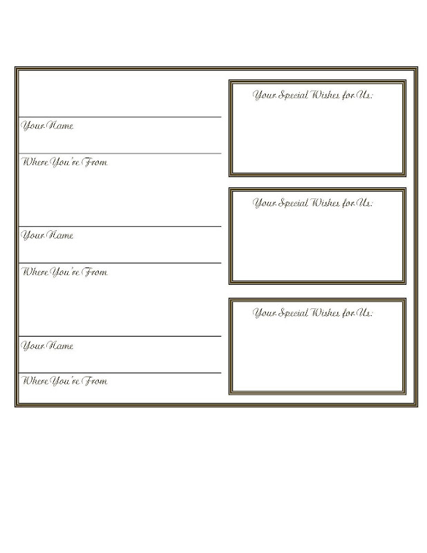 Sample guest book template