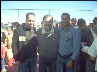 Deputado e apresentador Tv Acioli / Prefeito Ivan Rodrigues / repórter Régis Santos
