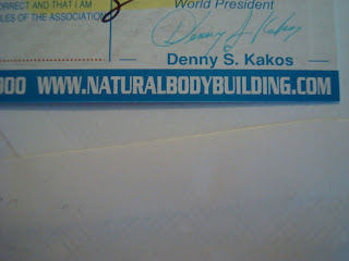 Website for the Natural Bodybuilding Organization