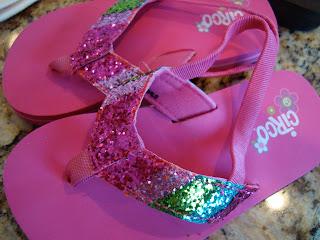 Pink sparkly sandals
