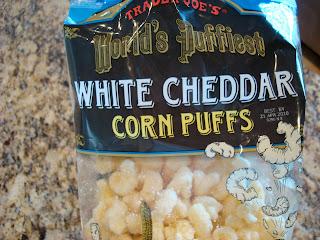 Bag of White Cheddar Corn Puffs