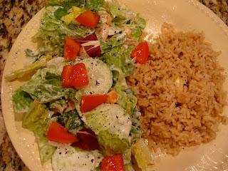Cesar-Inspired Salad & Brown Rice