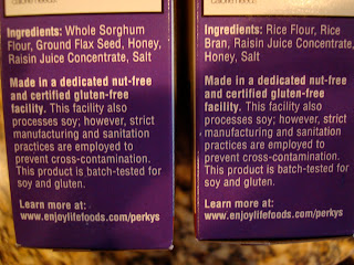 Ingredients on side of cereal boxes